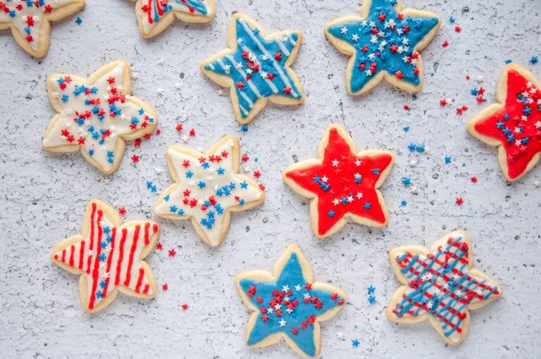 Easy 4th of July Sugar Cookies