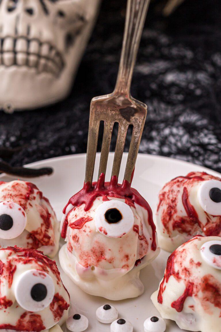 Eyeball Red Velvet Cake Balls